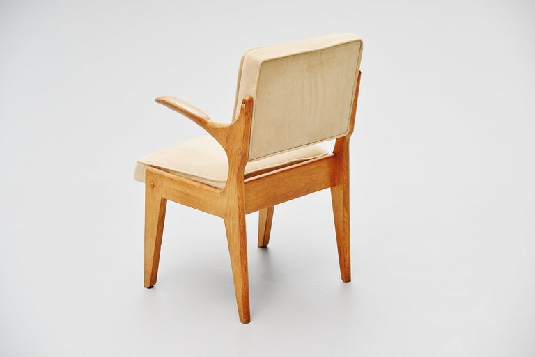 Mid-Century Modern Guillerme et Chambron Armchair, France, 1960 For Sale