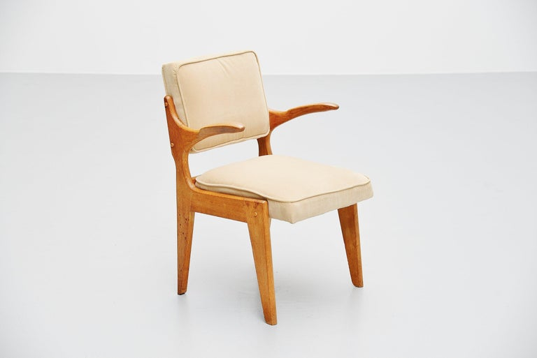 Guillerme et Chambron Armchair, France, 1960 In Good Condition For Sale In Roosendaal, Noord Brabant
