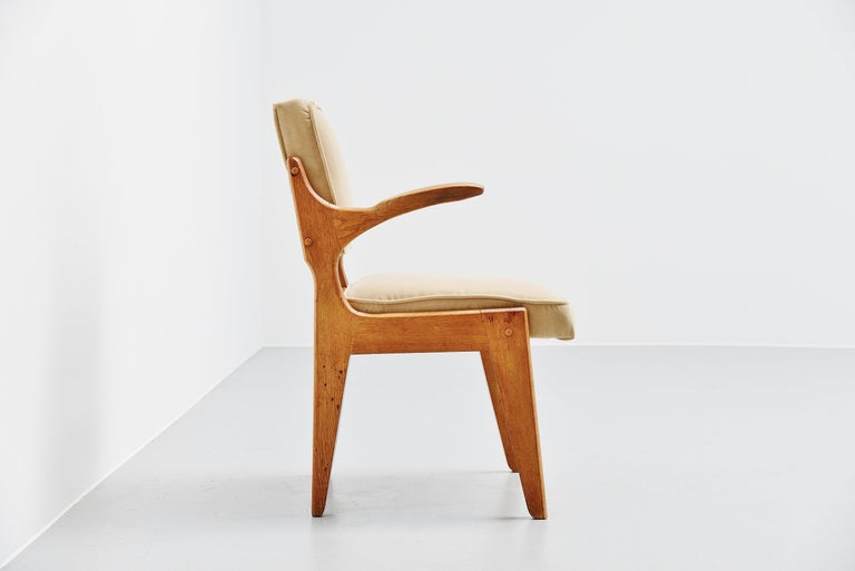Mid-20th Century Guillerme et Chambron Armchair, France, 1960 For Sale