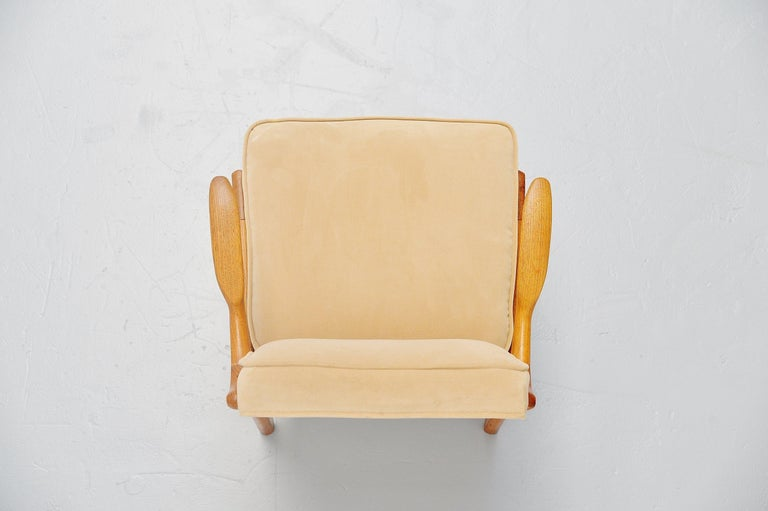 Upholstery Guillerme et Chambron Armchair, France, 1960 For Sale