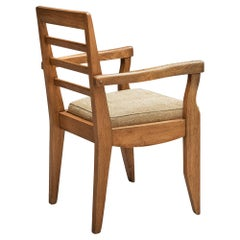 Guillerme et Chambron Armchair in Solid Oak
