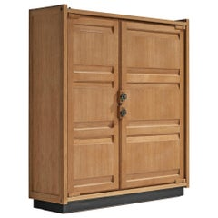 Guillerme et Chambron Armoire with Ceramic Handles