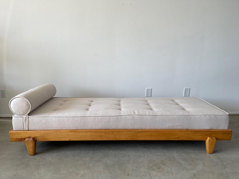 Oak Guillerme et Chambron Attributed Daybed For Sale