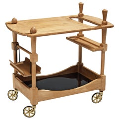 Guillerme et Chambron Bar Cart in Oak