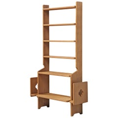 Guillerme et Chambron Bookcase in Solid Oak