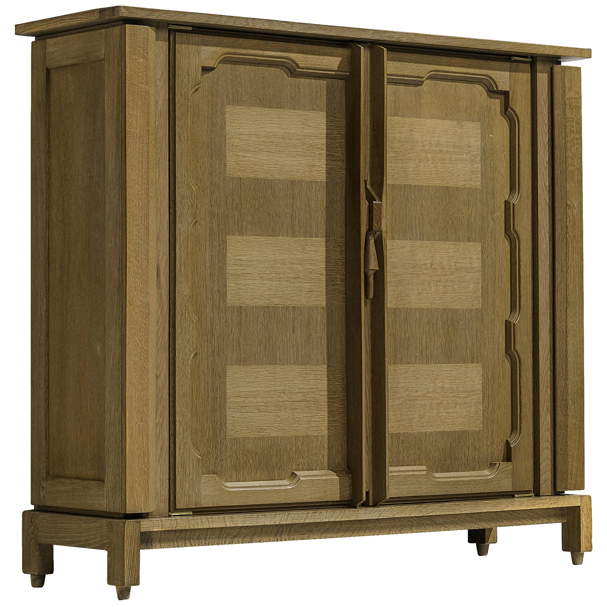 Guillerme et Chambron Cabinet in Green Stained Oak