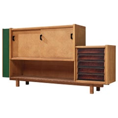 Guillerme et Chambron Cabinet in Oak, 1950s