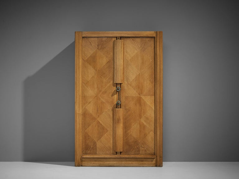 French Guillerme et Chambron Cabinet in Oak For Sale