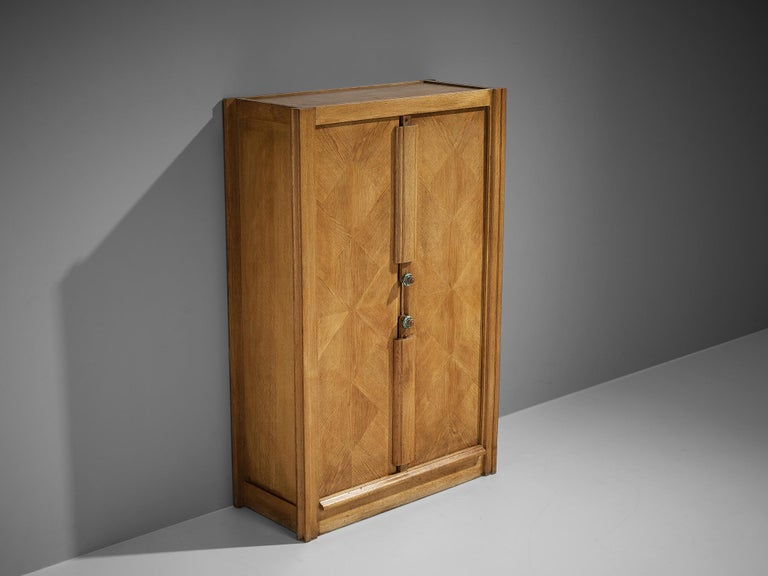 Mid-20th Century Guillerme et Chambron Cabinet in Oak For Sale