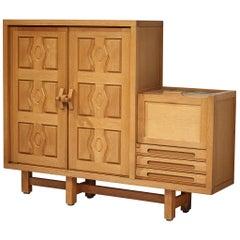 Guillerme et Chambron Cabinet in Oak