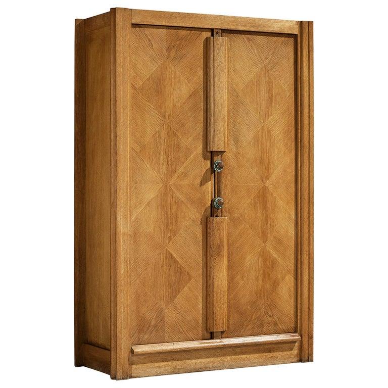 Guillerme et Chambron Cabinet in Oak For Sale