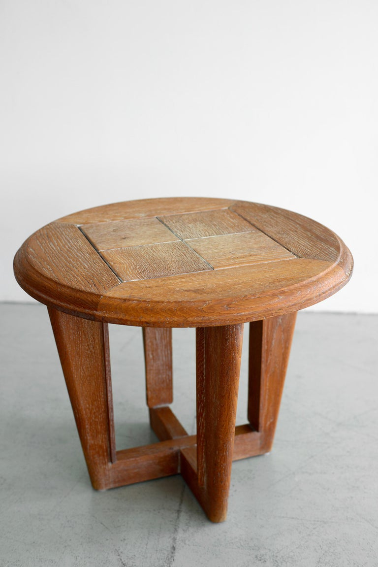 Cerused oak table by Guillerme et Chambron 