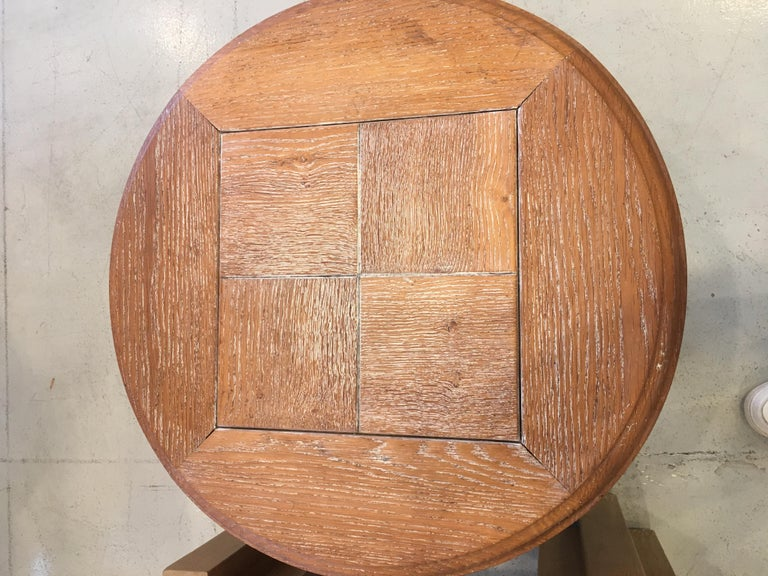 Guillerme et Chambron Cerused Table In Good Condition For Sale In Los Angeles, CA