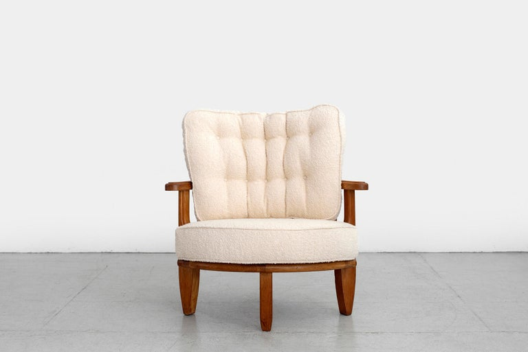 Rare Guillerme et Chambron easy armchair