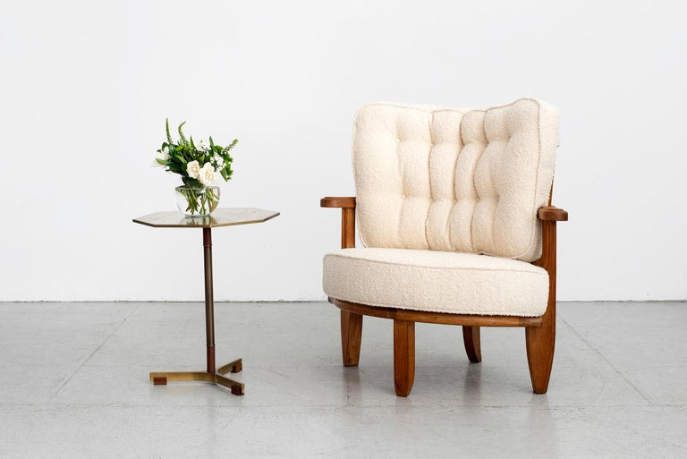 Mid-Century Modern Guillerme et Chambron Chair For Sale