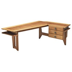 Guillerme et Chambron Corner Desk in Solid Oak