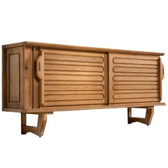 Guillerme et Chambron Credenza in Solid Oak