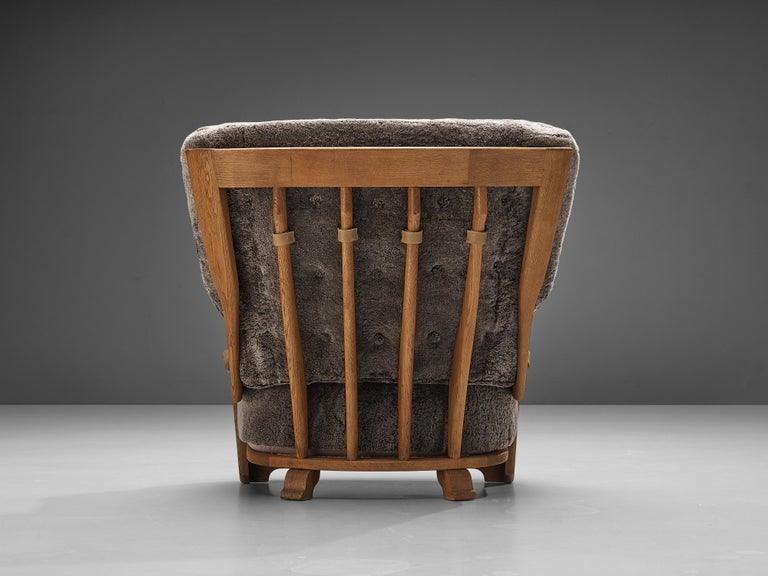 Guillerme et Chambron Customizable 'Denis' Lounge Chair in Oak For Sale 1