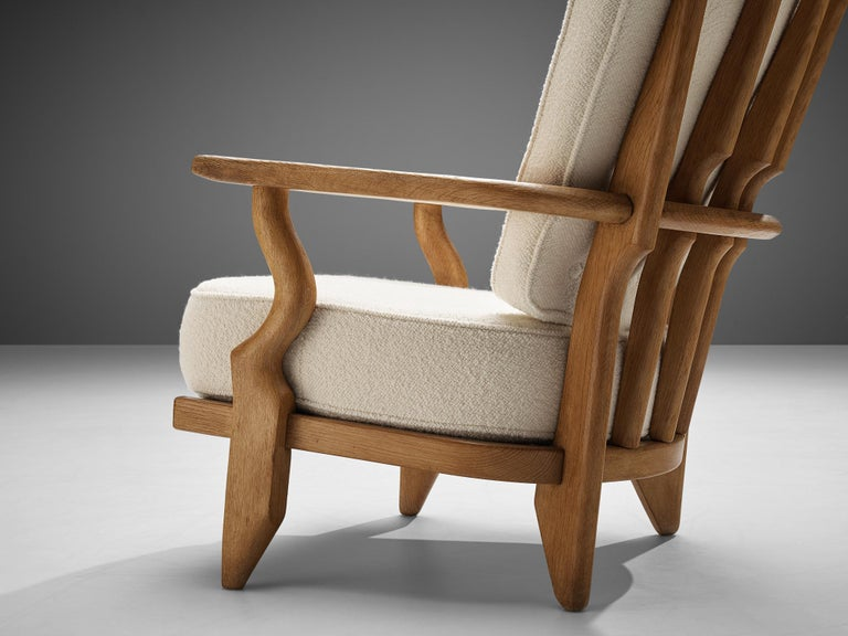 Mid-Century Modern Guillerme et Chambron Customizable 'Grand Repos' Lounge Chair For Sale