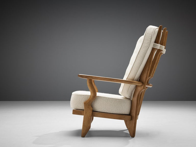 French Guillerme et Chambron Customizable 'Grand Repos' Lounge Chair For Sale