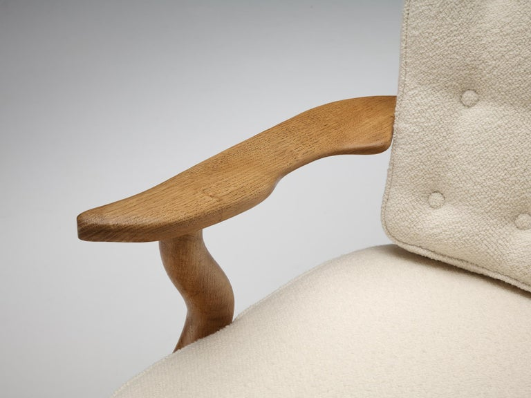 Guillerme et Chambron Customizable 'Grand Repos' Lounge Chair In Excellent Condition For Sale In Waalwijk, NL