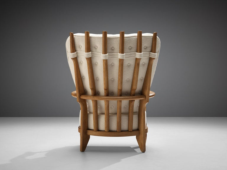Mid-20th Century Guillerme et Chambron Customizable 'Grand Repos' Lounge Chair For Sale