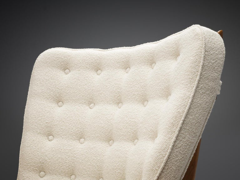 Fabric Guillerme et Chambron Customizable 'Grand Repos' Lounge Chair For Sale