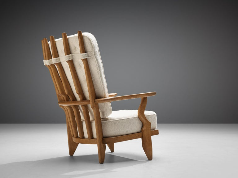 Guillerme et Chambron Customizable 'Grand Repos' Lounge Chair For Sale 1