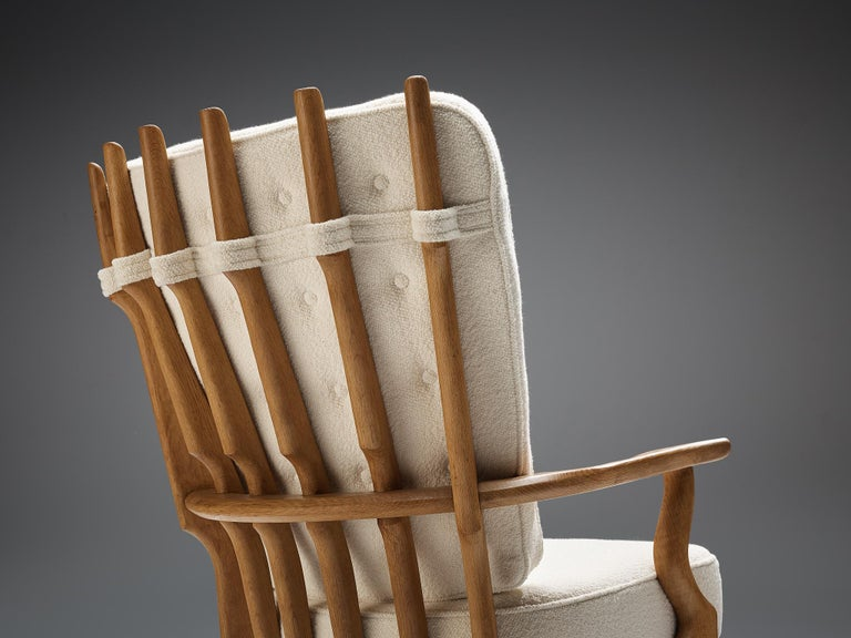 Guillerme et Chambron Customizable 'Grand Repos' Lounge Chair For Sale 2