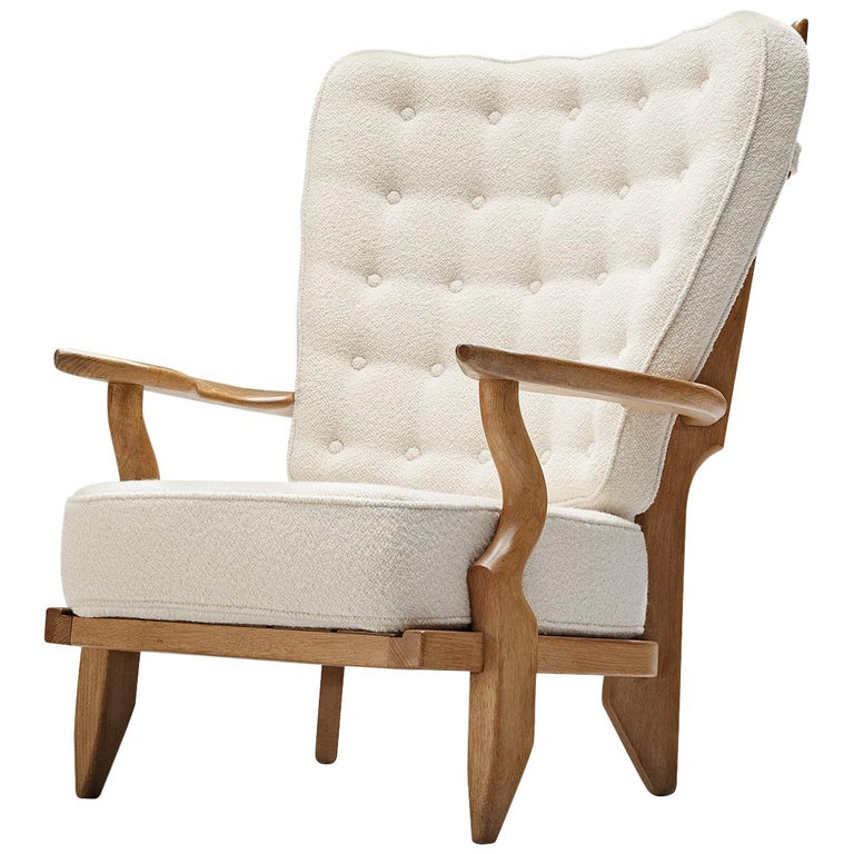 Guillerme et Chambron Customizable 'Grand Repos' Lounge Chair For Sale