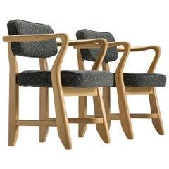 Guillerme et Chambron 'Denis' Armchairs in Oak