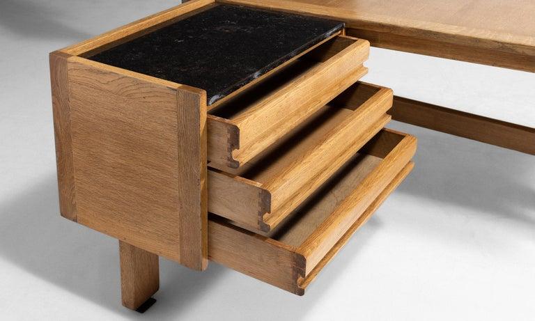 Granite Guillerme et Chambron Desk For Sale