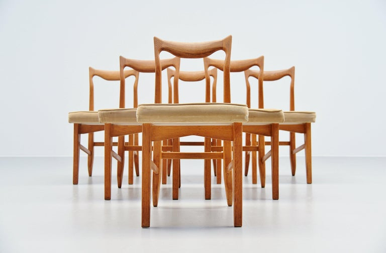Guillerme et Chambron Dining Chairs, France, 1965 For Sale 3