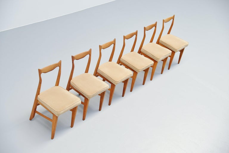 Guillerme et Chambron Dining Chairs, France, 1965 In Good Condition For Sale In Roosendaal, Noord Brabant