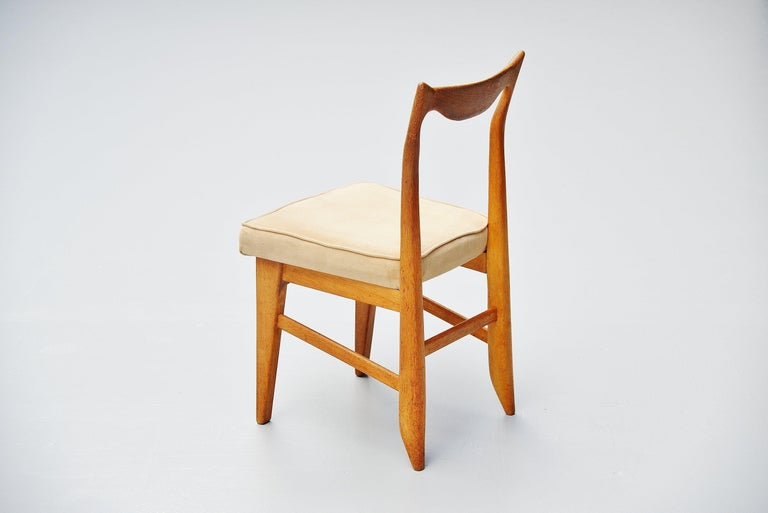 Guillerme et Chambron Dining Chairs, France, 1965 For Sale 1