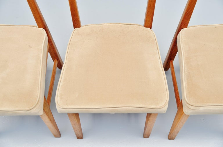 Guillerme et Chambron Dining Chairs, France, 1965 For Sale 2