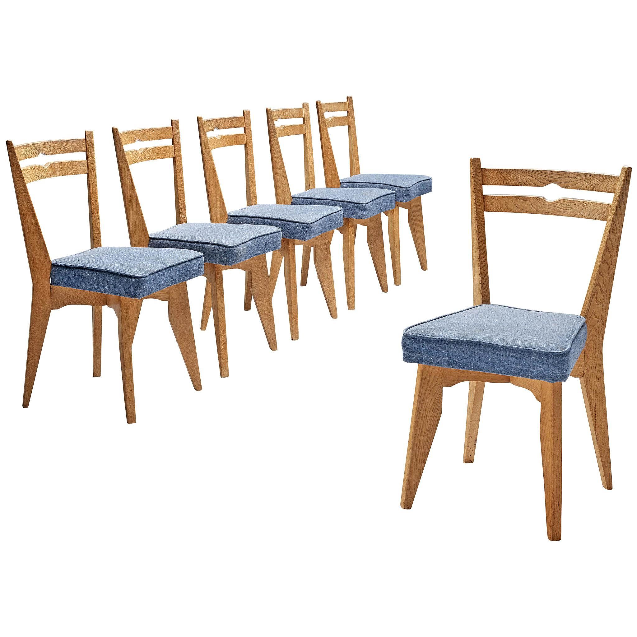 Guillerme et Chambron Dining Chairs in Oak