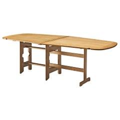 Guillerme et Chambron Drop-Leaf Table in Oak