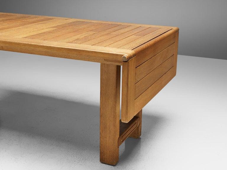 Guillerme et Chambron Extendable Dining Table 'Bourbonnais' in Oak For Sale 6