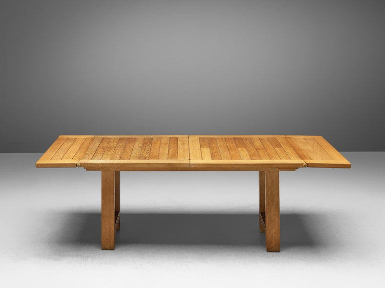 Guillerme et Chambron Extendable Dining Table 'Bourbonnais' in Oak For Sale 1