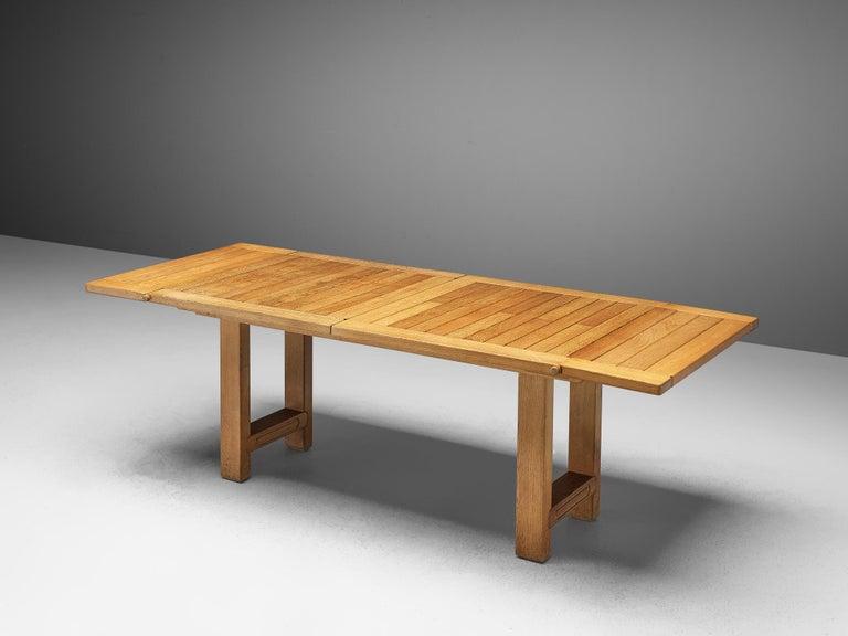 Guillerme et Chambron Extendable Dining Table 'Bourbonnais' in Oak For Sale 2
