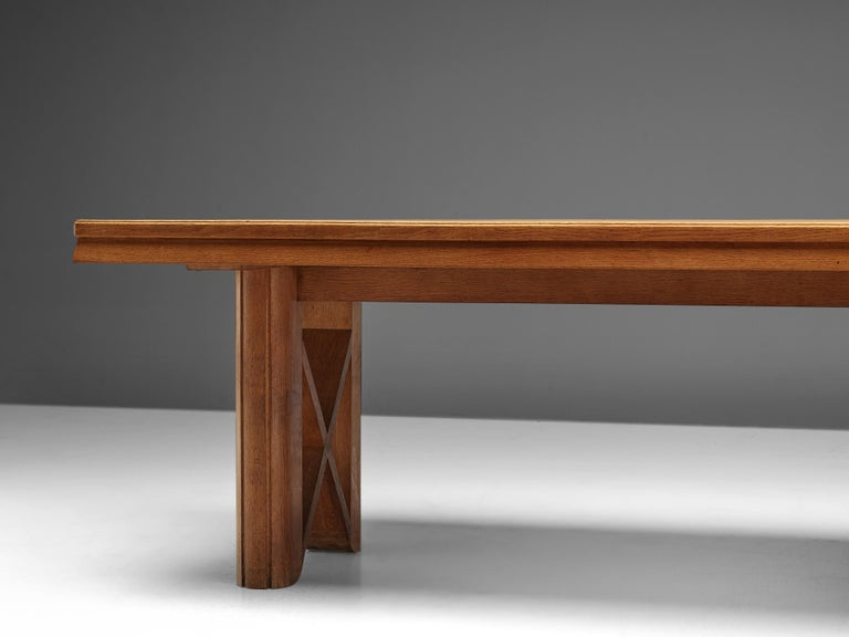 Guillerme et Chambron Extendable Dining Table in Oak For Sale 5