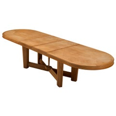 Guillerme et Chambron Extendable Dining Table in Oak