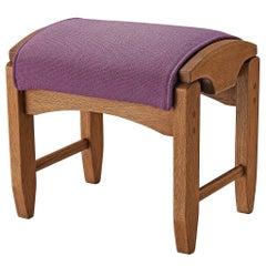 Guillerme et Chambron Footstool in Solid Oak