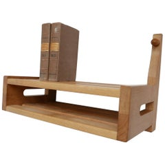 Guillerme et Chambron French Midcentury Oak Shelf