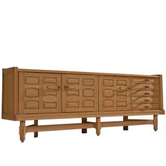 Guillerme et Chambron Large Credenza in Oak