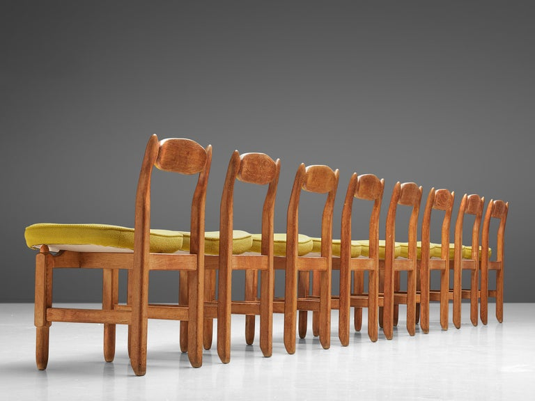 Mid-Century Modern Guillerme et Chambron 'Lorraine' Chairs in Oak For Sale