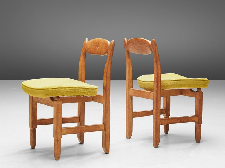 Guillerme et Chambron 'Lorraine' Chairs in Oak In Good Condition For Sale In Waalwijk, NL