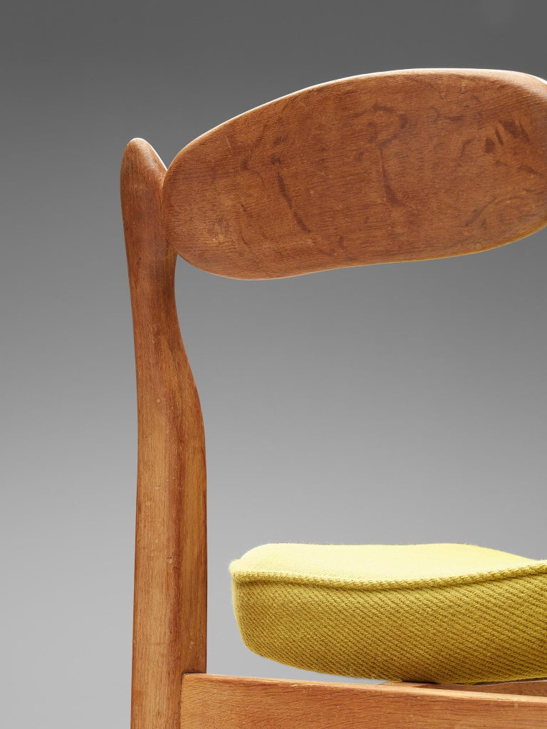 Guillerme et Chambron 'Lorraine' Chairs in Oak For Sale 1