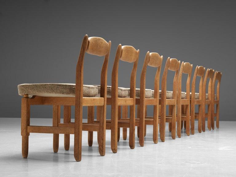 Guillerme et Chambron 'Lorraine' Chairs in Oak For Sale 1